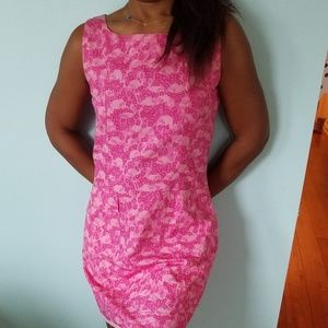 Pink Flamingo Lilly Pulitzer size 8 Shift Dress